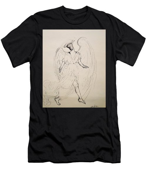 Walking With An Angel Men's T-Shirt (Athletic Fit)