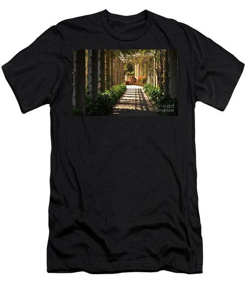 Walkway Men's T-Shirt (Slim Fit) by Debby Pueschel