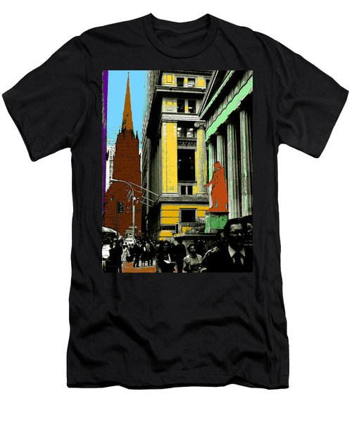 New York Pop Art 99 - Color Illustration Men's T-Shirt (Athletic Fit)