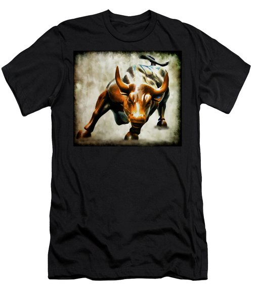 Wall Street Bull Men's T-Shirt (Athletic Fit)