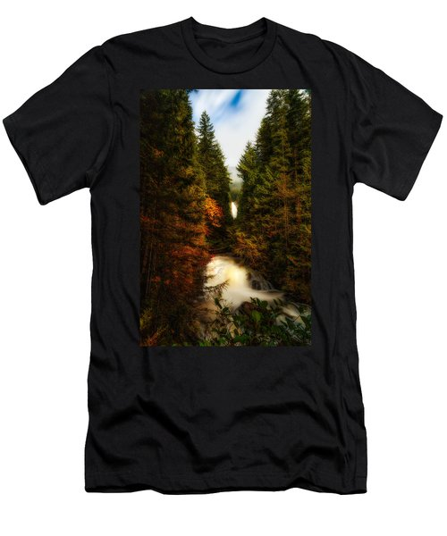 Wallace Fall North Fork Men's T-Shirt (Slim Fit) by James Heckt