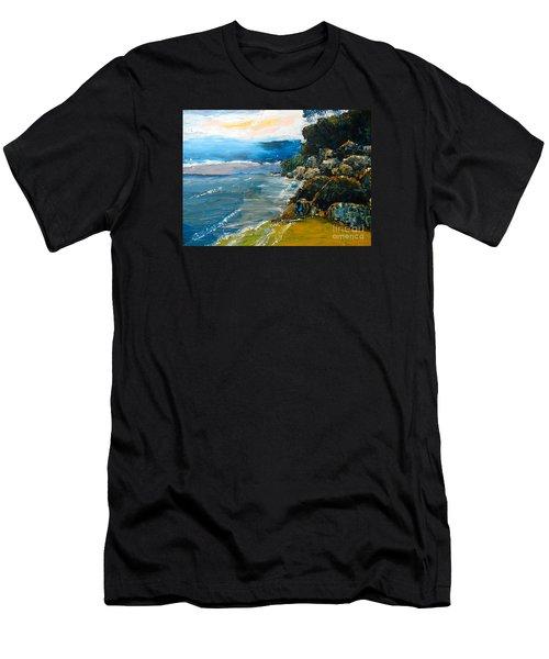 Walomwolla Beach Men's T-Shirt (Slim Fit) by Pamela  Meredith