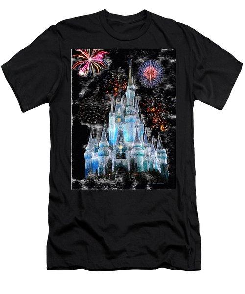Walt Disney World Frosty Holiday Castle Men's T-Shirt (Athletic Fit)