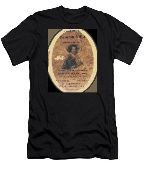 Wanted Poster For Pancho Villa After Columbus New Mexico Raid  Men's T-Shirt (Athletic Fit)