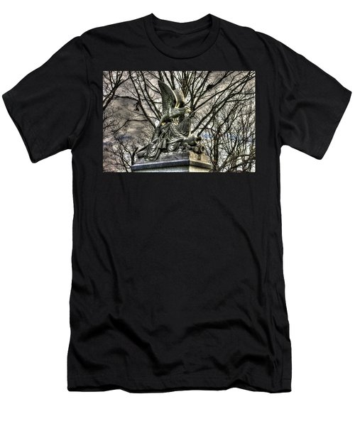 Men's T-Shirt (Slim Fit) featuring the photograph War Eagles - 88th Pa Volunteer Infantry Cameron Light Guard-d1 Oak Hill Autumn Gettysburg by Michael Mazaika