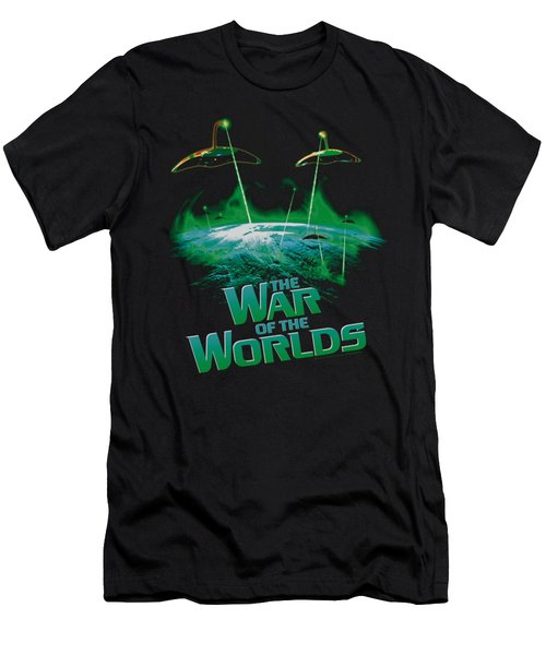 War Worlds - Global Attack Men's T-Shirt (Athletic Fit)
