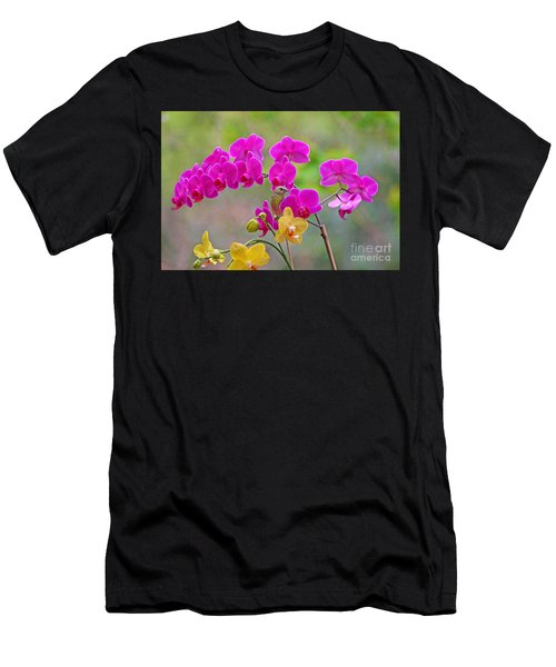 Warbler Posing In Orchids Men's T-Shirt (Athletic Fit)