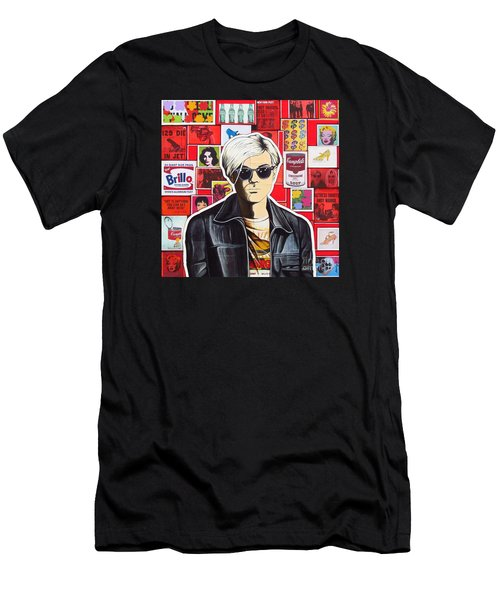 Men's T-Shirt (Slim Fit) featuring the mixed media Warhol by Joseph Sonday