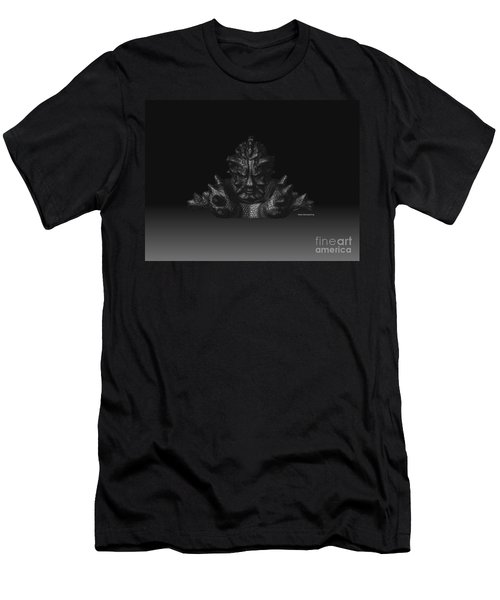 Men's T-Shirt (Slim Fit) featuring the sculpture Warlord by R Muirhead Art