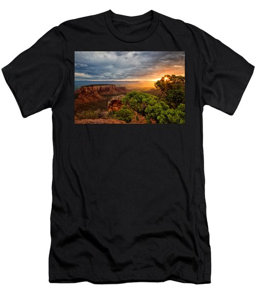 Warm Glow On The Monument Men's T-Shirt (Athletic Fit)