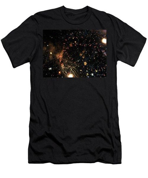 Warp Speed Men's T-Shirt (Slim Fit) by Cynthia Lassiter