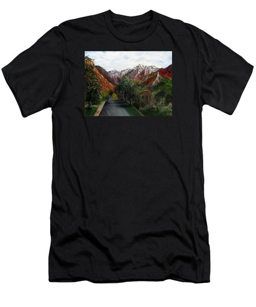 Wasatch Range Looking Up Binford St. Men's T-Shirt (Athletic Fit)