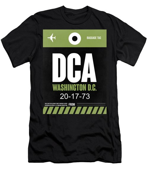 Washington D.c. Airport Poster 2 Men's T-Shirt (Slim Fit) by Naxart Studio
