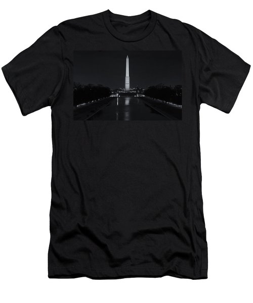 Washington Monument At Night Men's T-Shirt (Athletic Fit)