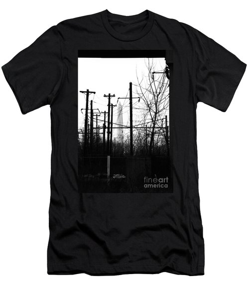 Washington Monument From The Train Yard. Washington Dc Men's T-Shirt (Athletic Fit)