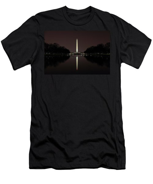Washington Monument Reflections At Night Men's T-Shirt (Athletic Fit)