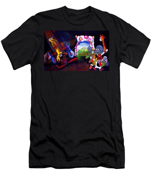 Men's T-Shirt (Slim Fit) featuring the painting Watch With Mother by Charles Stuart