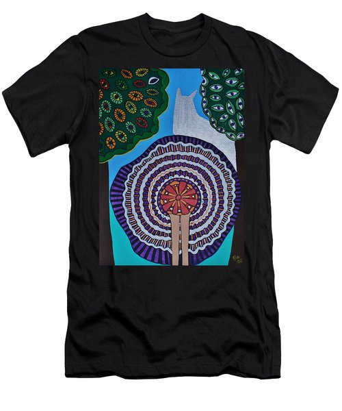 Watching The Show Men's T-Shirt (Slim Fit) by Barbara St Jean
