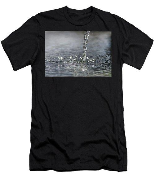 Water Beam Splashing Men's T-Shirt (Athletic Fit)