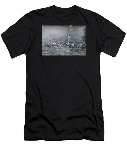 Water Beam Splashing Men's T-Shirt (Athletic Fit)