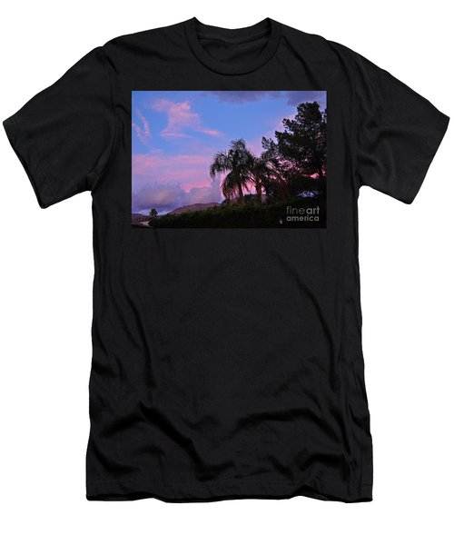 Water Colored Sky Men's T-Shirt (Slim Fit) by Jay Milo