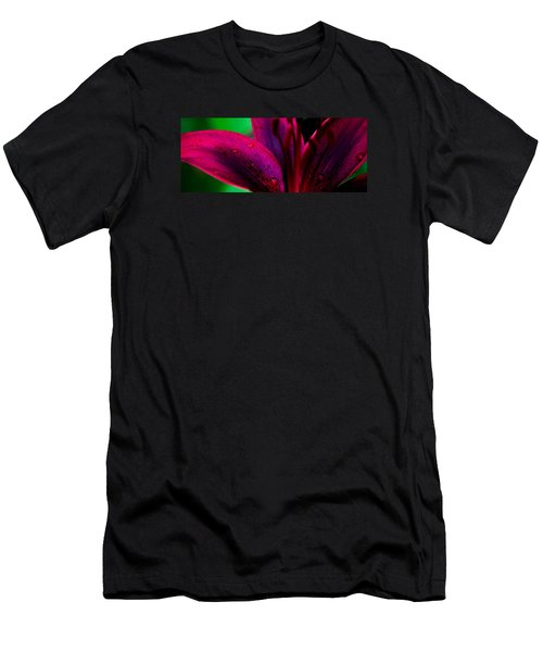 Water-drops On The Petal Men's T-Shirt (Slim Fit) by Shelby  Young