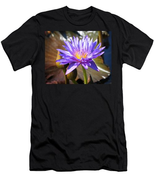 Men's T-Shirt (Slim Fit) featuring the photograph Water Flower 1004d by Marty Koch