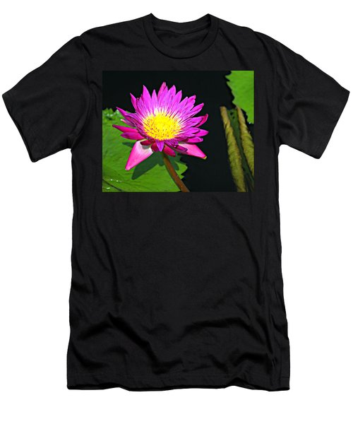 Men's T-Shirt (Slim Fit) featuring the photograph Water Flower 10089 by Marty Koch