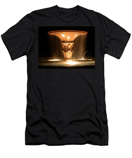 Water Fountain At Night Men's T-Shirt (Athletic Fit)