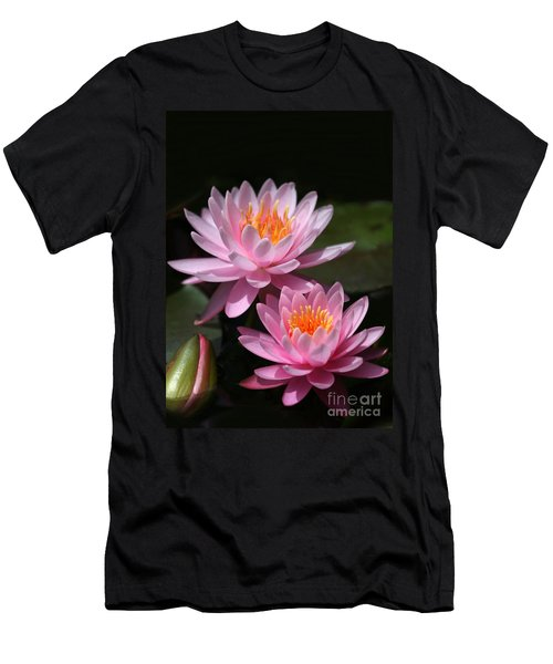 Water Lilies Love The Sun Men's T-Shirt (Athletic Fit)