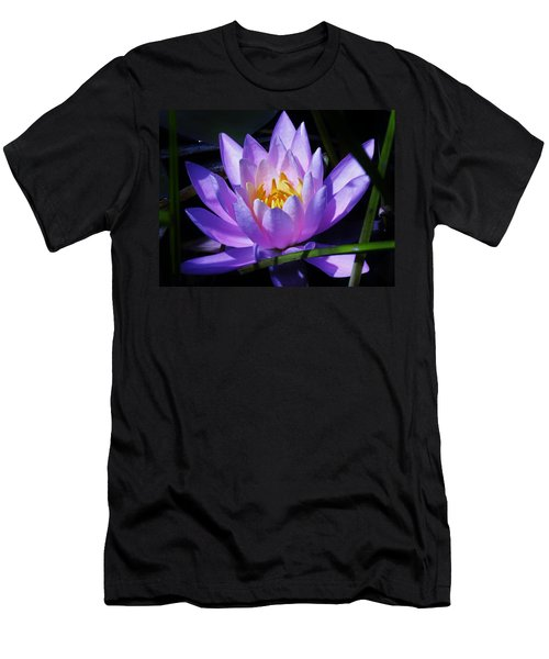 Water Lily Blues Men's T-Shirt (Athletic Fit)