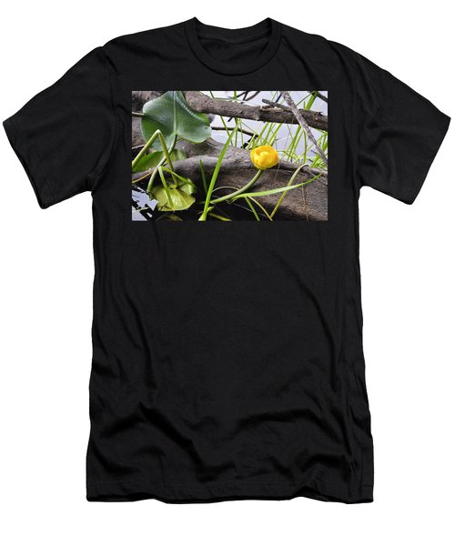 Men's T-Shirt (Slim Fit) featuring the photograph Water Lily by Cathy Mahnke