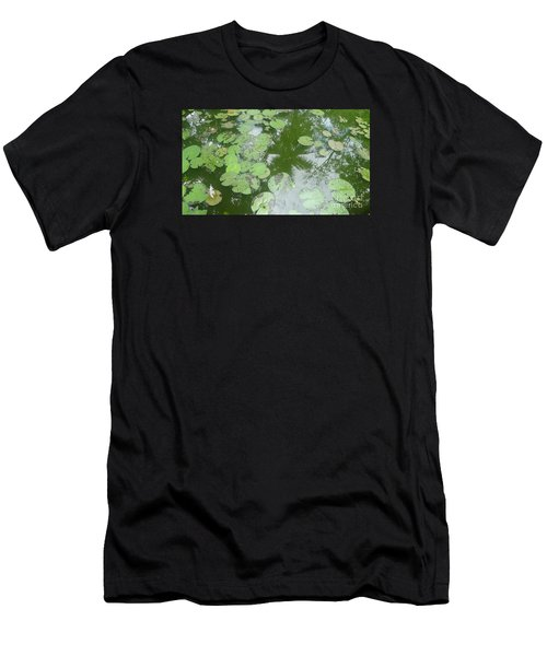 Water Lily Leaves And Palm Trees Men's T-Shirt (Athletic Fit)