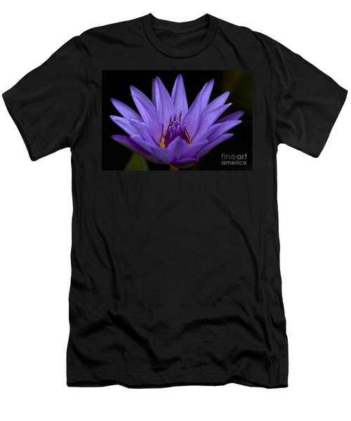 Men's T-Shirt (Slim Fit) featuring the photograph Water Lily Photo by Meg Rousher