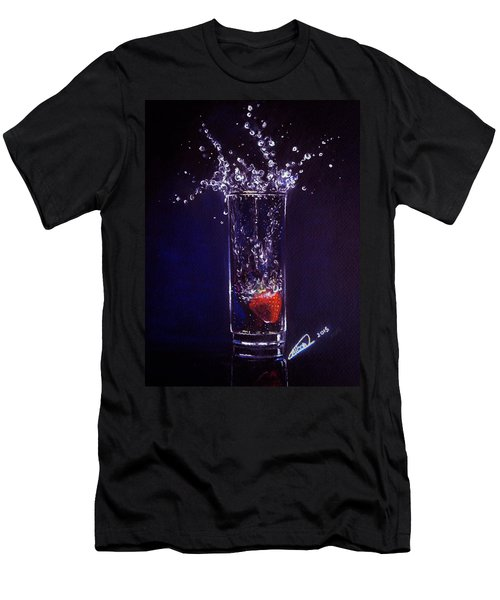 Water Splash Reflection Men's T-Shirt (Athletic Fit)