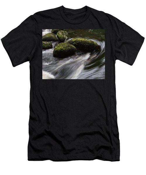 Water Swirl Men's T-Shirt (Athletic Fit)