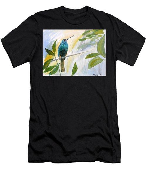 Watercolor - Jacamar In The Rainforest Men's T-Shirt (Athletic Fit)