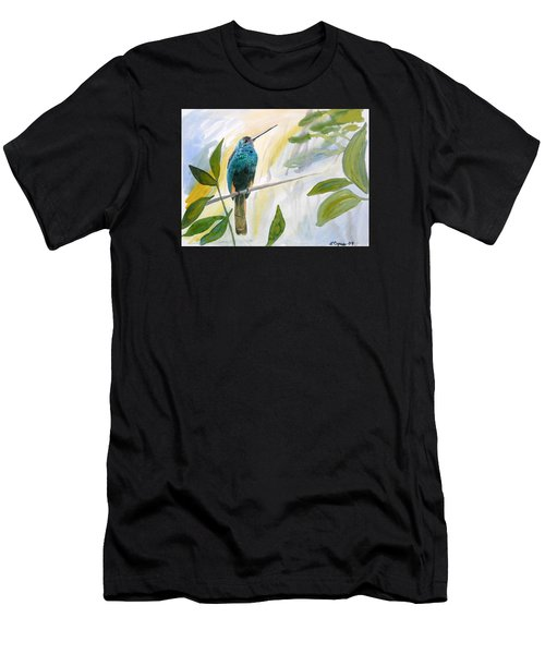 Watercolor - Jacamar In The Rainforest Men's T-Shirt (Athletic Fit)