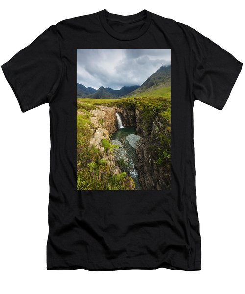 Waterfall In Coire Na Creiche The Fairy Men's T-Shirt (Athletic Fit)