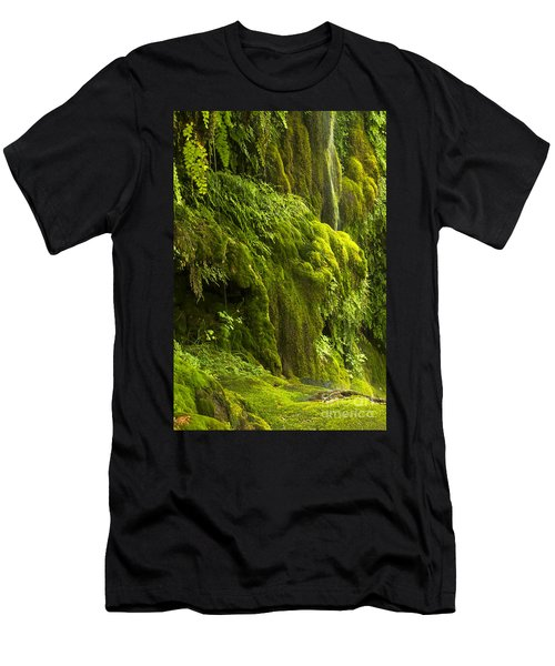 Men's T-Shirt (Slim Fit) featuring the photograph Waterfall In Green by Bryan Keil