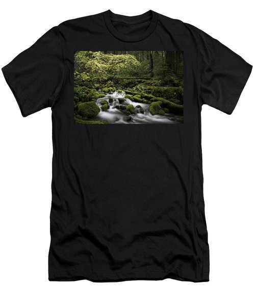 Waterfall In The Fall Men's T-Shirt (Athletic Fit)