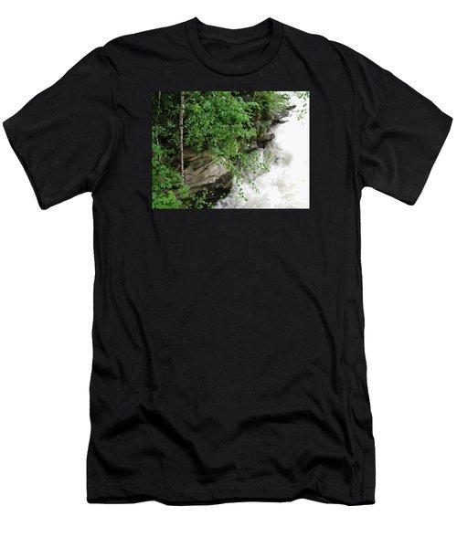 Waterfall Men's T-Shirt (Slim Fit) by Oleg Zavarzin