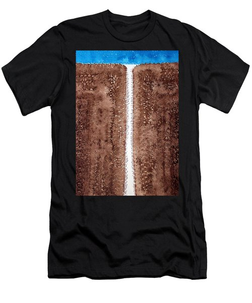 Waterfall Original Painting Men's T-Shirt (Athletic Fit)