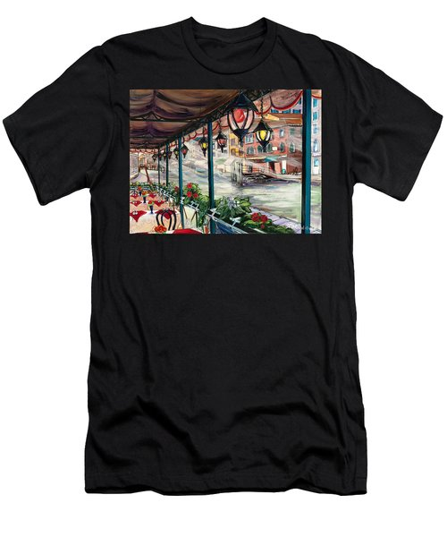 Waterfront Cafe Men's T-Shirt (Athletic Fit)
