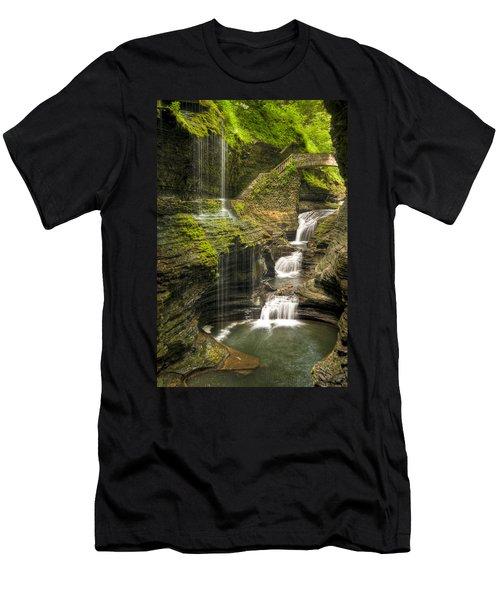 Watkins Glen Rainbow Falls Men's T-Shirt (Athletic Fit)