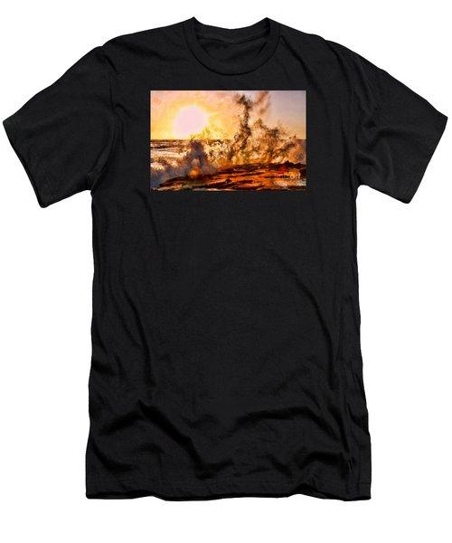 Wave Crasher La Jolla By Diana Sainz Men's T-Shirt (Athletic Fit)