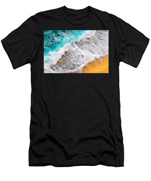 Waves Abstract Men's T-Shirt (Athletic Fit)