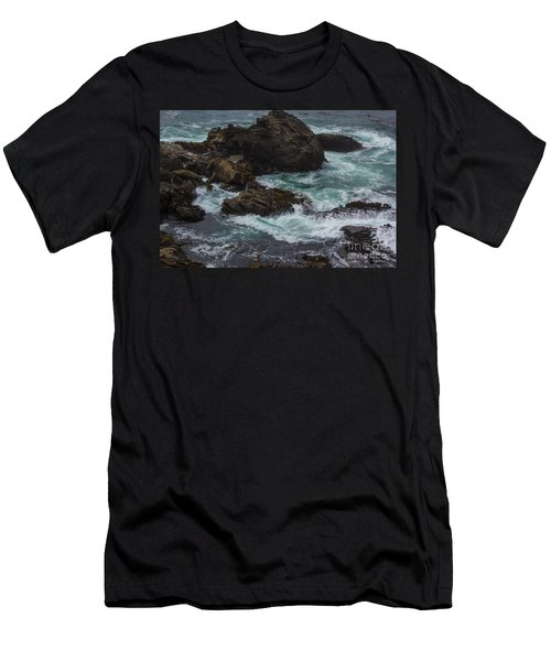 Waves Meet Rock Men's T-Shirt (Athletic Fit)