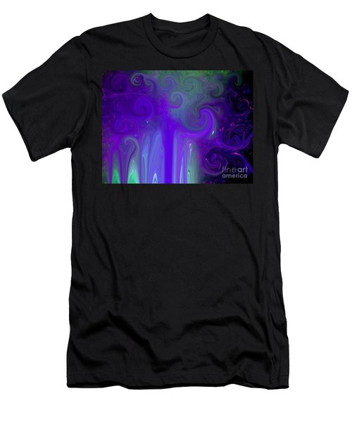 Waves Of Violet - Abstract Men's T-Shirt (Athletic Fit)