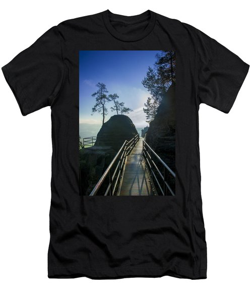 Way Into The Light On Neurathen Castle Men's T-Shirt (Athletic Fit)